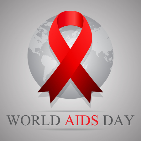 aids awareness ribbon: World AIDS Day. 1st December World Aids Day.