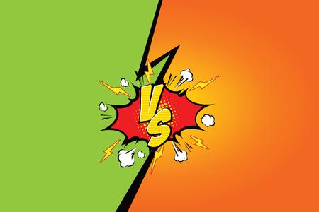 battle: Fight backgrounds comics style design. Vector illustration.