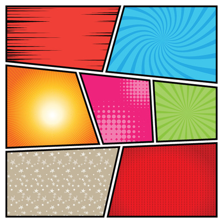 strip design: Comics Template. Vector Comic Book Illustration.