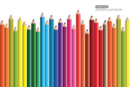 grafit: Crayon Flat Design vector icon. Ilustracja