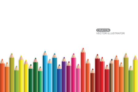 Crayon Flat Design vector icon. Illustration