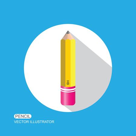 Pencil. Flat Design vector icon.