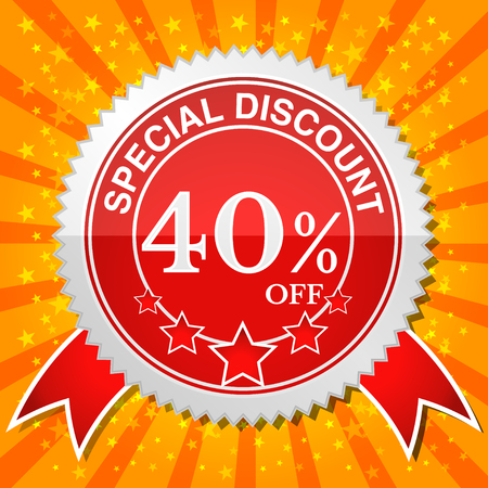 sale sticker: Special Discount 40% Off