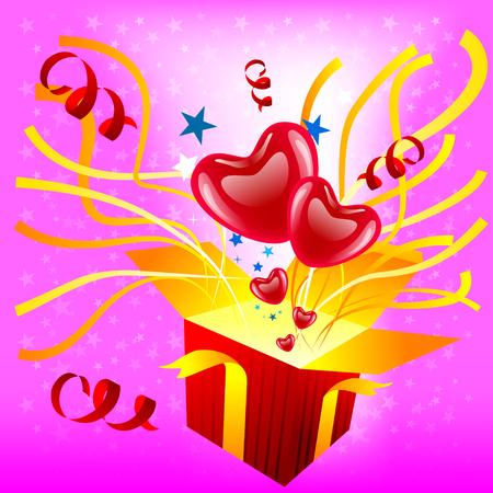 surprise box: Surprise gift. Illustration