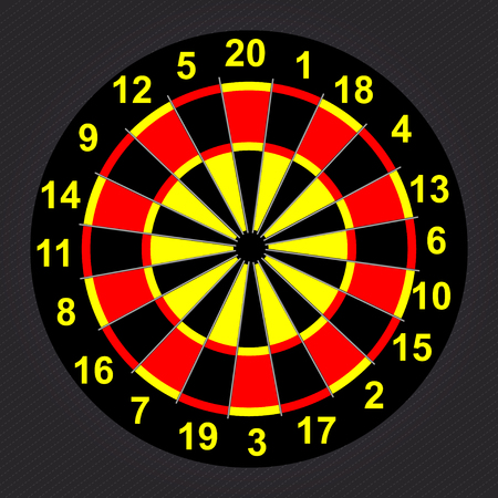 Target Darts. Illustration
