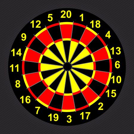 dartboard: Target Darts. Illustration