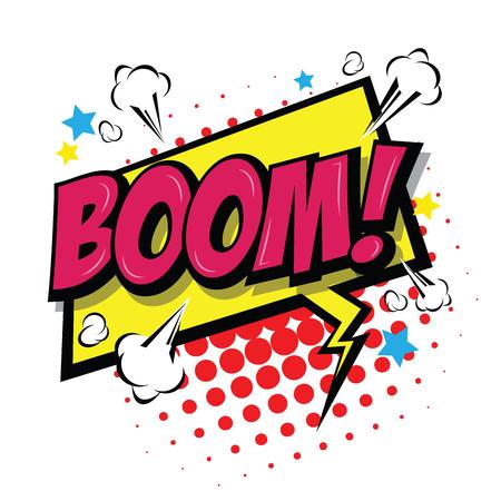 Boom! Comic Speech Bubble, Cartoon. art and illustration vector file. Illustration