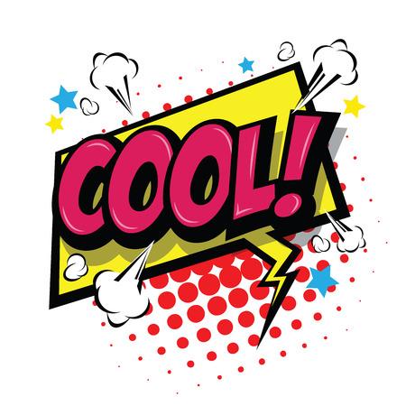 Cool! Comic Speech Bubble, Cartoon. art and illustration vector file.