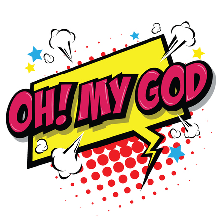 Oh! My God Comic Speech Bubble, Cartoon. art and illustration vector file.