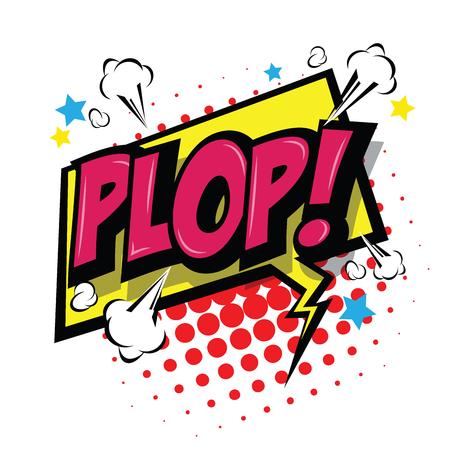 Plop! Comic Speech Bubble, Cartoon. art and illustration vector file. Vector Illustration