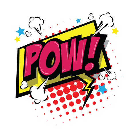 Pow! Comic Speech Bubble, Cartoon. art and illustration vector file.
