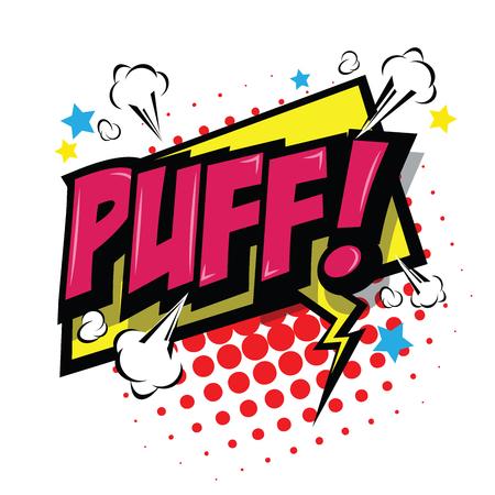 Puff! Comic Speech Bubble, Cartoon. art and illustration vector file.