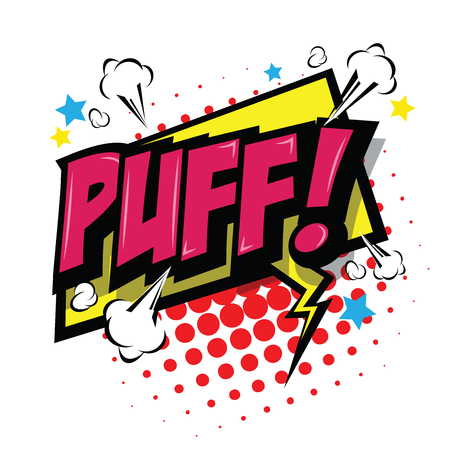 Puff! Comic Speech Bubble, Cartoon. art and illustration vector file.