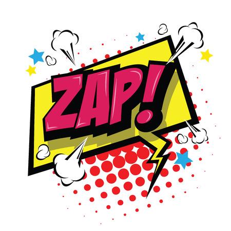 Zap! Comic Speech Bubble, Cartoon. art and illustration vector file.