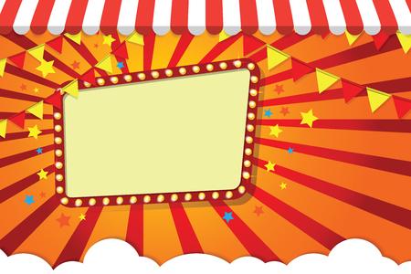 Festival frame comics. Vector illustrator 矢量图片