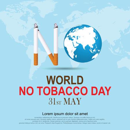 Deja de fumar. Día Mundial Sin Tabaco. Ilustración Vector Eps 10.
