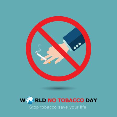 Stop Smoking. World No Tobacco Day. illustration Vector Eps 10.