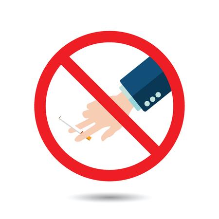 Aufhören zu rauchen. Weltnichtrauchertag. Abbildung Vektor-Eps 10. Vektorgrafik