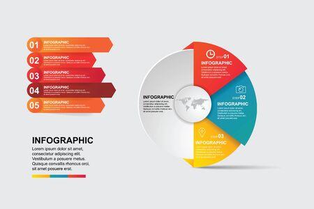 infographic template. illustrator Vector Eps 10.  イラスト・ベクター素材
