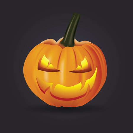 Pumpkin Ghost on Black background. illustrator Vector