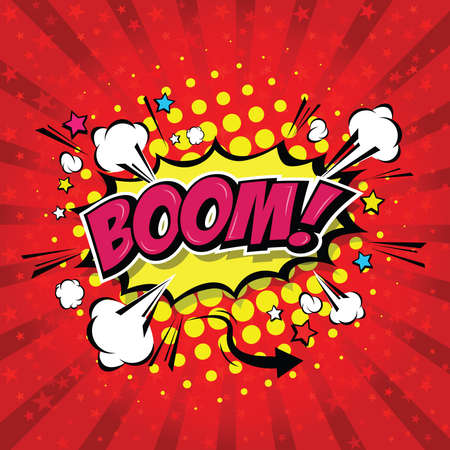 Boom! Comic Speech Bubble, Cartoon. art and illustration vector file. Vecteurs