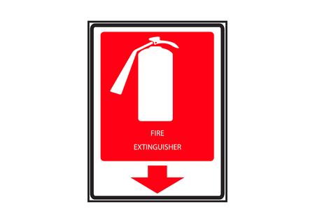 Fire Extinguisher Marker Illustration