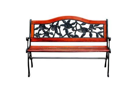 Decorative wooden bench photo