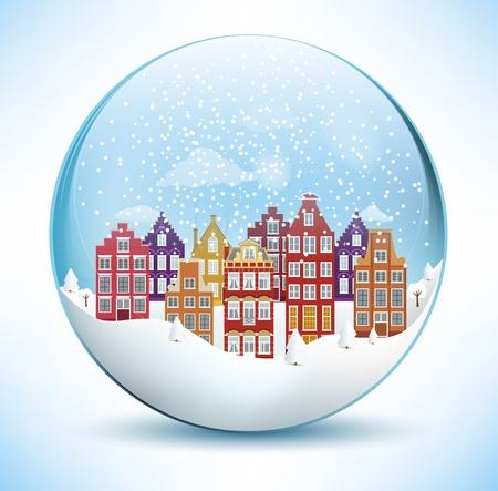 Christmas Sphere - City  Amsterdam  Vector
