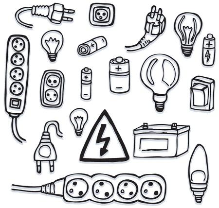 Symboles de l'énergie électrique et Banque d'images - 21823126