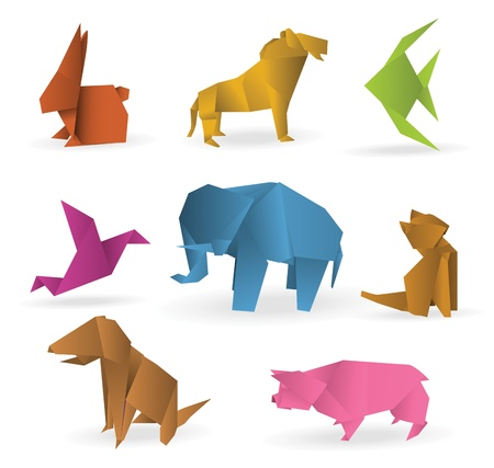 animali: Origami animali Vettoriali