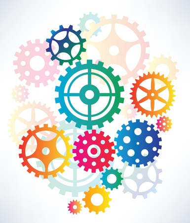 Abstract tooth wheels Vector