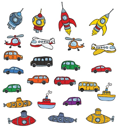 unterseeboot: Fahrzeuge Symbole Illustration
