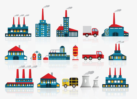 Factory icons Stock Vector - 22577618