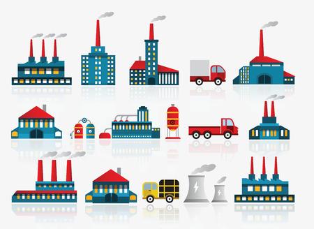 Icônes Factory Banque d'images - 22577618