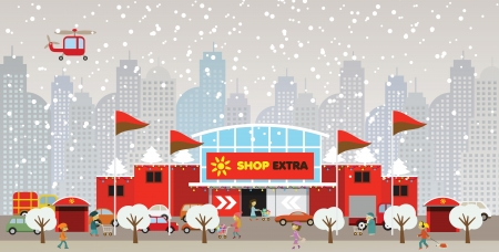 Shopping in the city Christmas