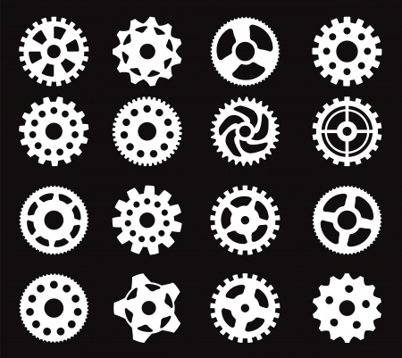 sprocket: Tooth wheels  white