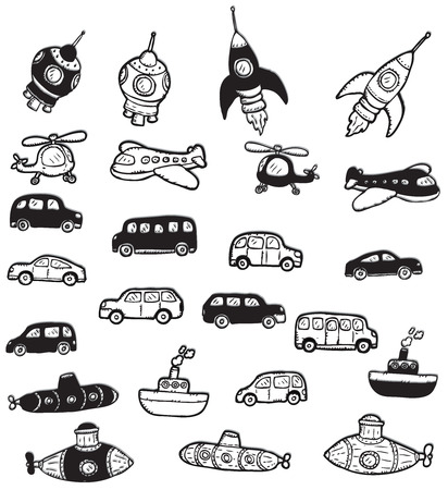 Vehicles symbols Vector