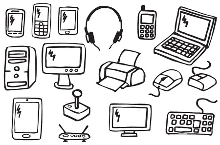 tablet pc in hand: Icons - Electronics 2