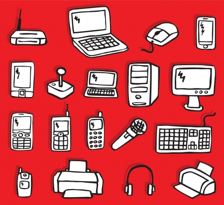 mobile device: Icons - Electronics 3   Illustration