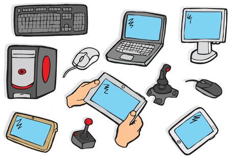 Electronics symbols - colors Vector