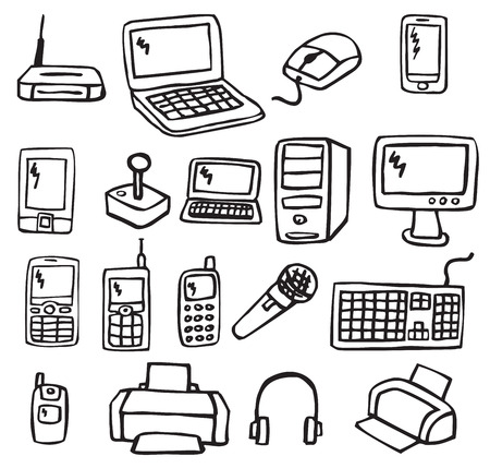 Icons - Electronics 3 Stock Vector - 22677234