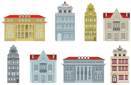 Old houses Ilustração
