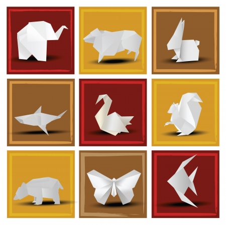 Origami animals Stock Vector - 22677241
