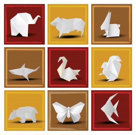 Origami Tiere Standard-Bild - 22677241