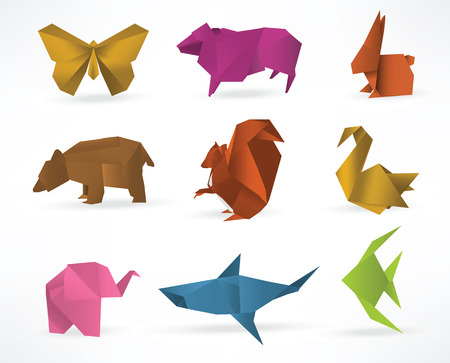 butterfly rabbit: Origami animals