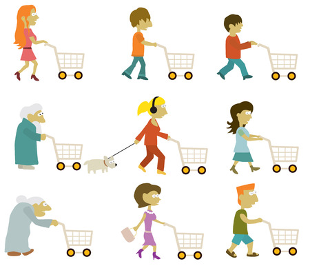 People group  shopping  Vector