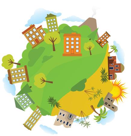 global village: Around the World
