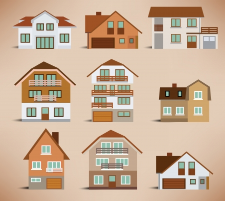 City houses Stock Vector - 22677326