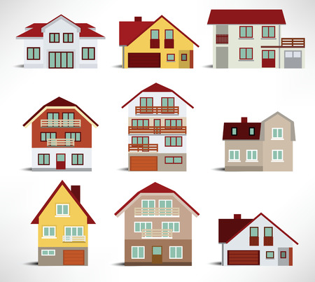 City houses Stock Vector - 22677325