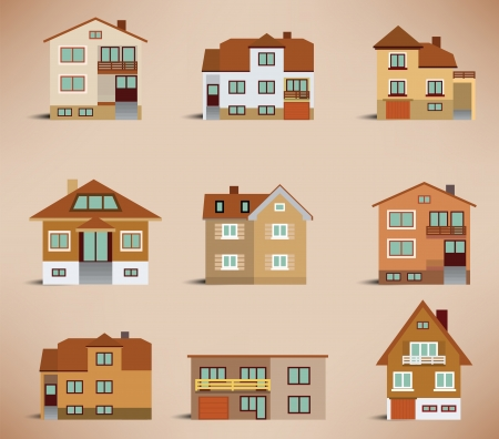 small town life: City houses